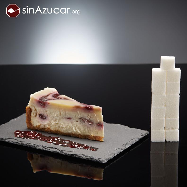 Una porción de tarta de queso contiene 52Gr de azúcar (13 terrones). Análisis del Cheescake Dulce de Leche del Starbucks.