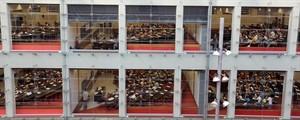 UPF Vista de las aulas del campus Ciutadella de la Universitat Pompeu Fabra, en Barcelona.