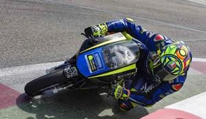 Rossi se probó en Misano