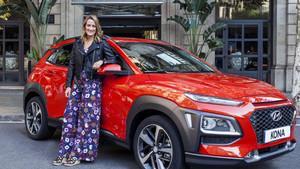 Mireia Belmonte, con el nuevo Hyundai Kona