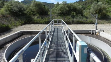 Depuradora de aguas residuales de Cap�anes, en el Priorat, inaugurada el pasado fin de semana. Es la n�mero 500 del plan de saneamiento de Catalunya.