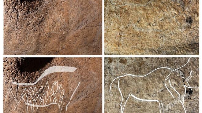"""Descobert a Biscaia un """"santuari"""" amb almenys 70 gravats rupestres"""