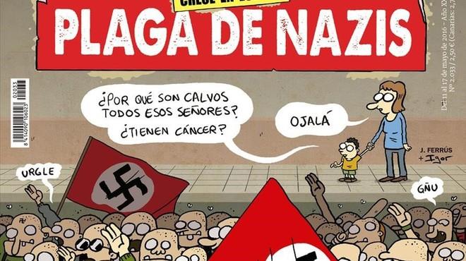 Agredida la directora d''El Jueves' arran de la publicació d'una portada contra l'auge del nazisme
