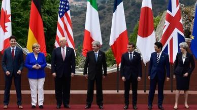 Foto de los mandatarios del G7 en Taormina.