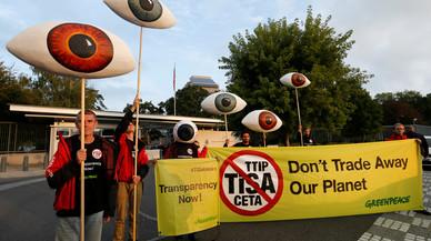 Les protestes contra els acords comercials TTIP i CETA arriben a Brussel·les
