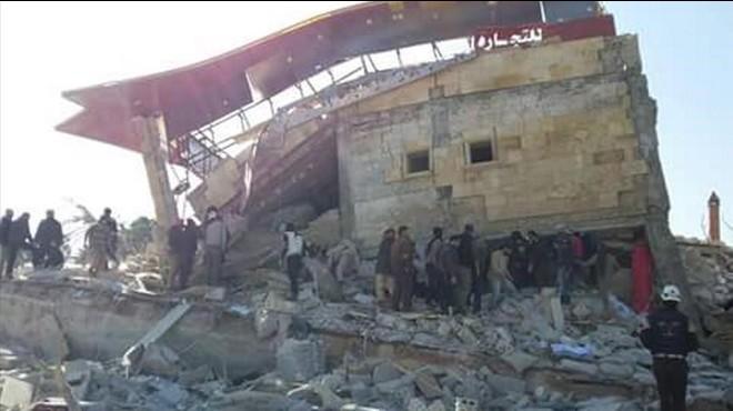 Un hospital apoyado por MSF, destruido durante un ataque a�reo en Idleb (Siria), el 15 de febrero.