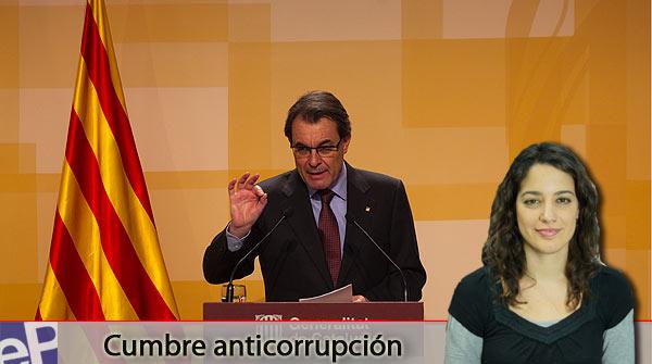 El anuncio de convocatoria de una cumbre anticorrupci�n por parte de Artur Mas, tema destacado del informativo de hoy.