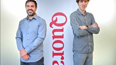 Los impulsores de Quora en Espa�a, Xavier Amatriain y Adam D'Angelo.