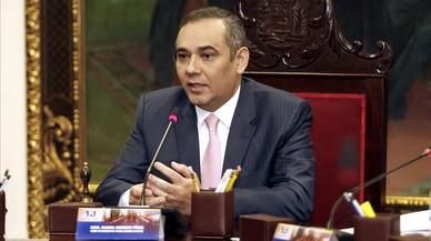 Maikel José Moreno Pérez, tras su acto de posesión en Caracas, el 24 de febrero.