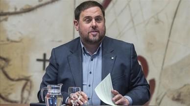 El vicepresidente de la Generalitat, Oriol Junqueras, en una reunión del Consell Executiu.