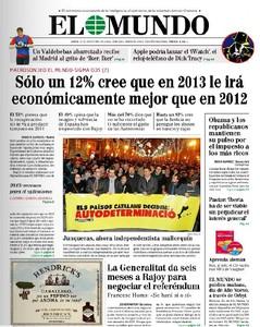 """El discurso de Fin de A�o de Mas que sit�a el bienestar social como eje del """"proyecto nacional"""" abre las portadas"""