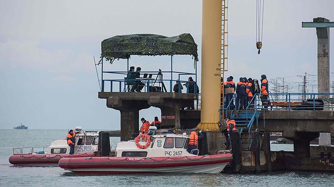Localitzada la caixa negra de l'avió militar rus sinistrat al mar Negre