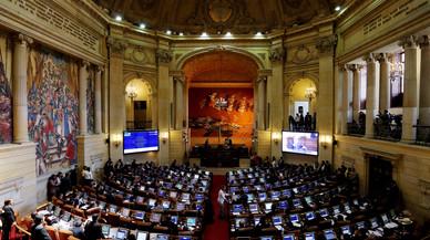 Vista general de la sesión del Congreso colombiano donde se aprobó el nuevo acuerdo de paz, en Bogotá.