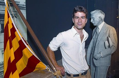 El actor Anton Tarradellas, el mircoles en el Museu d'Histria de Catalunya.