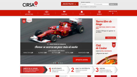 Portal web de Cirsa.