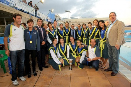 Imagen de archivo de las jugadoras del CN Sabadell de waterpolo.
