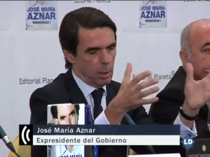 Presentacin de las memorias del expresidente del Gobierno Jos Mara Aznar