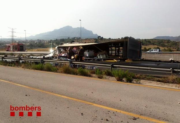 Normalizada la circulación por la autovía A-2 a la altura de Esparreguera