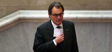Artur Mas, ayer, en el Parlament.