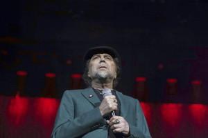 Joaquín Sabina, durant el concert a Madrid.