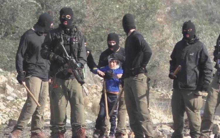 Detención de un niño palestino
