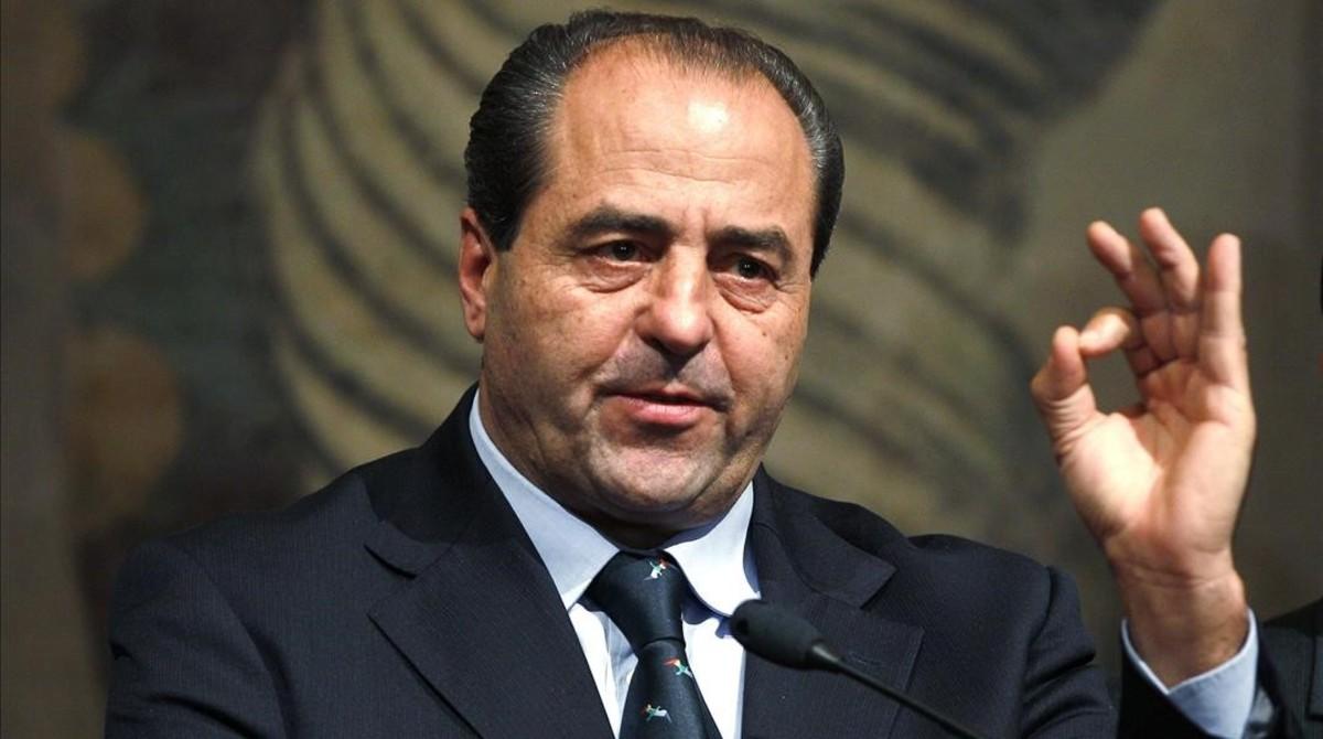 Antonio Di Pietro, uno de los impulsores de la operación Manos Limpias y posteriormente líder de Italia de los Valores, en el 2011, en Roma.