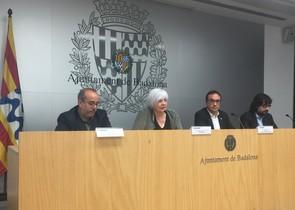 Rull, junto a la alcaldesa de Badalona en la presentación de la ampliación de la L1.