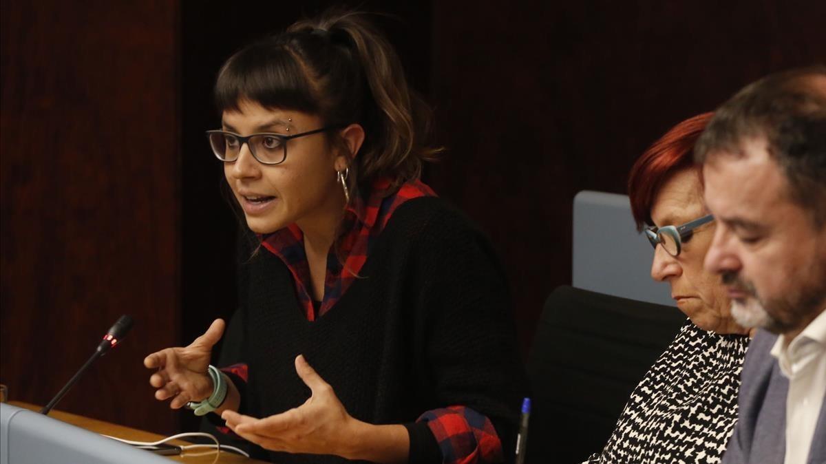 Maria Rovira, en una imagen de archivo, durante una comisión económica en el ayuntamiento de Barcelona.