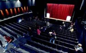 Un aspecto del reformado Teatre Goya, ayer.