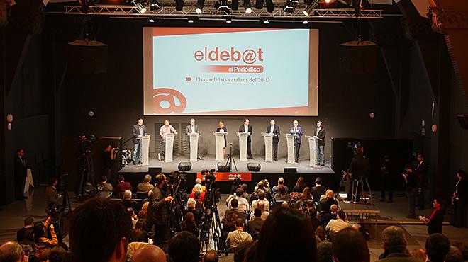 L'un per un dels candidats catalans en el debat d'EL PERIÓDICO