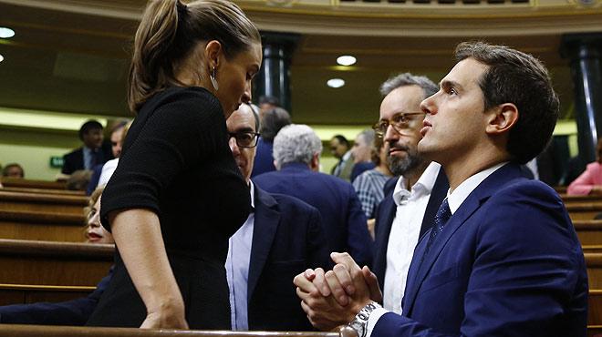"""¿Albert Rivera ha dit """"gilipolles"""" a Pablo Iglesias durant el debat d'investidura?"""