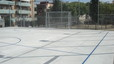 Nueva pista polideportiva en la plaza de la Mediterrània