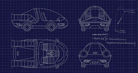 Planos del DeLorean en el que 'trabaja' Google.