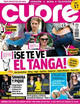 'Cuore' retrata a Shakira y Piqué, relajados en su sexto mes de embarazo