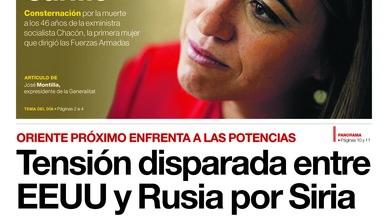 La commoció per la mort de Carme Chacón tenyeix les primeres pàgines