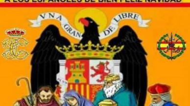 El PP d'Alella esborra una felicitació nadalenca amb l'àguila franquista