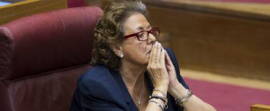 Rita Barber�, en las Cortes Valencianas, el pasado junio.