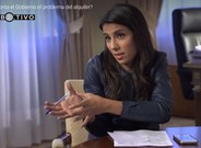 Ana Pastor, durante la entrevista con el ministro de Fomento.