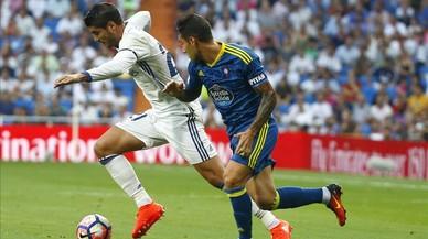 El Madrid guanya el Celta amb serioses dificultats