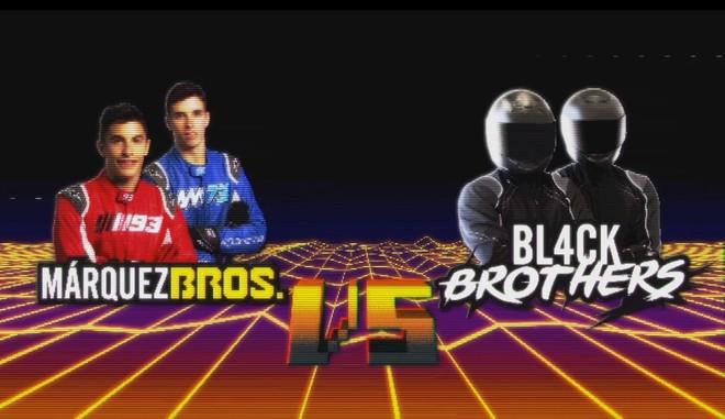 El videojuego que enfrenta a los Márquez Bros. con los Bl4ckbrothers.