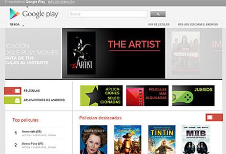 La web de Google Play Movies.