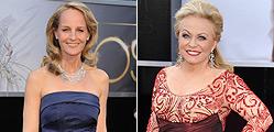 Helen Hunt (izquierda) y Kacki Weaver, dos de las actrices con los vestidos m�s comentados.