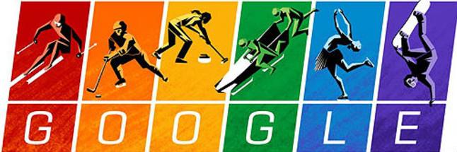 El doodle de los JJOO de Sochi con la bandera arcoiris.