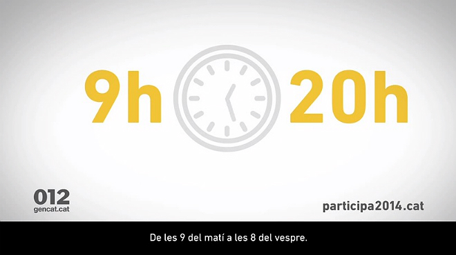 El Govern lanza dos anuncios informativos sobre c�mo y qui�n puede votar el 9-N