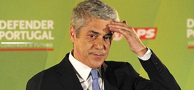 El exprimer ministro de Portugal Jos� S�crates, en un acto de campa�a electoral en Lisboa en el 2011