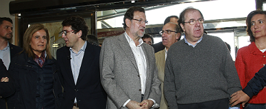 Rajoy este domingo en un acto del PP en Salamanca