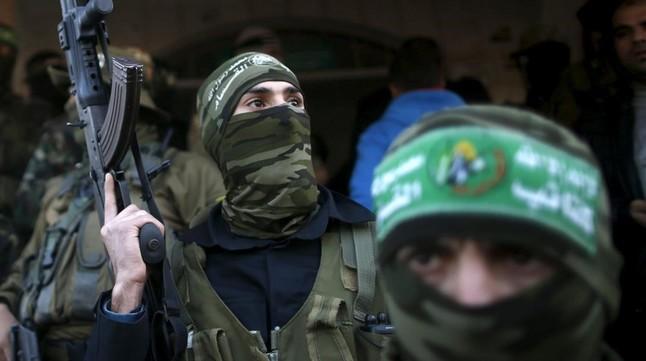 Miembros de Hamas en un funeral por dos militantes muertos el pasado 3 de febrero.