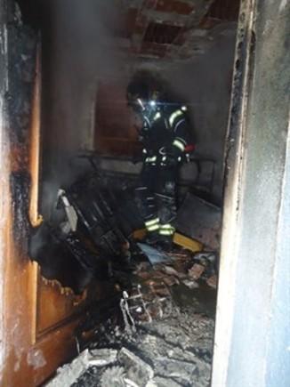 Incendio en Fuenlabrada (Madrid)