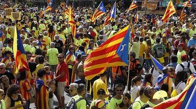 DIADA 2017: Participantes en la manifestación de Barcelona por la independencia