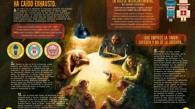 Doble p�gina de 'El ni�o Nada', el nuevo c�mic del dibujante e ilustrador V�ctor Escandell.